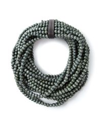 Monies | Green Beaded Necklace | Lyst