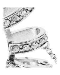 Roberto Cavalli Metallic Embellished Clip-On Ear Cuffs