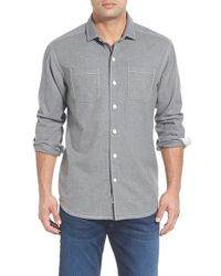 Tommy Bahama | Gray 'new Seaside' Original Fit Flannel Shirt for Men | Lyst