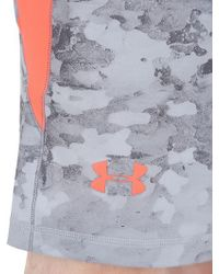 "Under Armour | Gray 8"" Raid Printed Training Short for Men 
