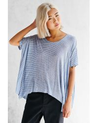Hiatus - Blue Sheer Stripe Tee - Lyst