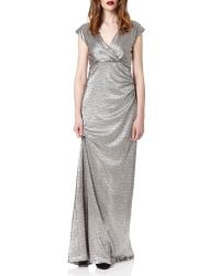 Almost Famous | Metallic Foil Gown | Lyst