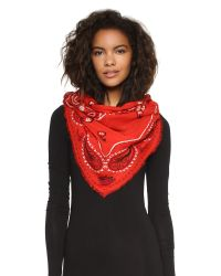 Marc By Marc Jacobs | William Paisley Scarf - Ruby Red Multi | Lyst