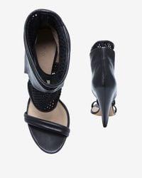 IRO Meshleather Ankle Cuff Cone Heel Sandal Black