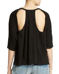 Free People | Black Crescent Moon Tee | Lyst