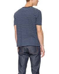 Apolis - Blue Striped Pocket T-Shirt for Men - Lyst