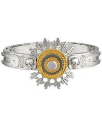 Alexander McQueen - Metallic Flower Bracelet - Lyst