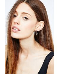 Urban Outfitters | Metallic Pyramid Front and Back Earrings in Silver | Lyst