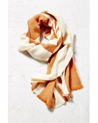BDG - Brown Vertical Stripe Oversized Blanket Scarf - Lyst