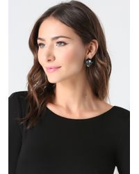 Bebe | Black Crystal Cluster Earrings | Lyst