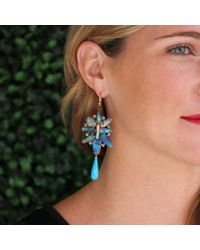 Irene Neuwirth - Blue Boulder Opal Turquoise Drop Earrings - Lyst