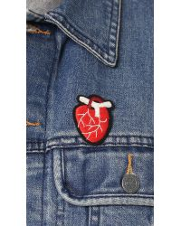 Macon & Lesquoy | Red Anatomical Heart Pin | Lyst