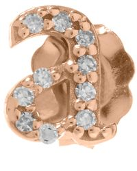 KC Designs | Pink Rose Gold Diamond A Single Stud Earring | Lyst