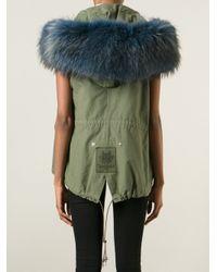 Mr & Mrs Italy - Green Fox Fur Trim Parka - Lyst
