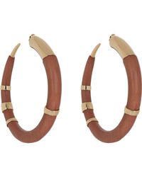 Aurelie Bidermann | Metallic Connie Island Hoops | Lyst