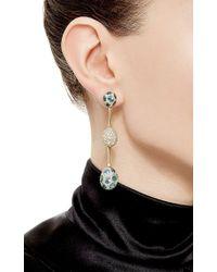 Nicholas Varney | Multicolor One Of A Kind Blue Zircon And Diamond Baton Ear Pendants | Lyst