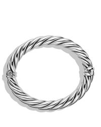 David Yurman | Metallic Sculpted Cable Bracelet | Lyst