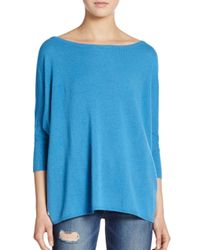 VINCE | Blue Slouched Cashmere Sweater | Lyst