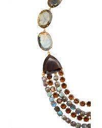Bounkit   Multicolor Labradorite And Smoky Topaz String Necklace   Lyst