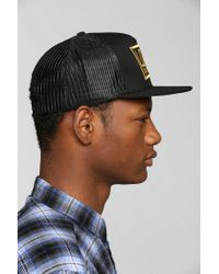 Urban Outfitters Black Loser Machine Empire Trucker Hat for men