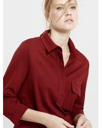 Violeta by Mango Red Pocket Detail Belted Dress