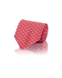 Ferragamo | Red Men's Crocodile-print Twill Necktie for Men | Lyst