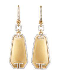 Ivanka Trump | Metallic Metropolis Small Octagon Diamond Earrings | Lyst