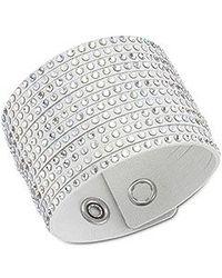 Swarovski   Metallic Slake Single Large Bracelet   Lyst