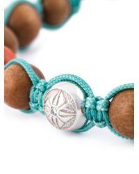 Shamballa Jewels Blue Coral Diamond Beaded Bracelet