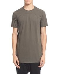 DRKSHDW by Rick Owens | Gray Seamed T-shirt for Men | Lyst