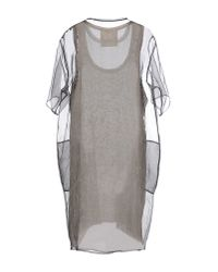 8pm - Gray Short Dress - Lyst