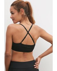 Forever 21 | Black Low Impact - Chevron Patterned Sports Bra | Lyst