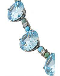 Bottega Veneta - Blue Oxidized Sterling Silver Multi-Stone Necklace - Lyst