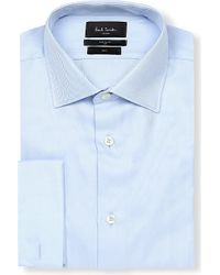 Paul Smith | Blue Soho-fit Double-cuff Cotton Shirt for Men | Lyst