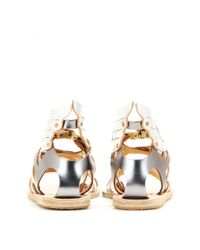 Ancient Greek Sandals | Nephele Metallic-Leather Sandals | Lyst