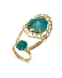 Alexis Bittar | Green Crystal Mosaic Hinged Cocktail Ring | Lyst