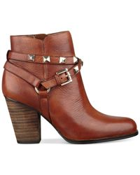 Guess | Brown Women's Fran Studded Booties | Lyst