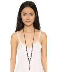Chan Luu - Chain Tassel Beaded Necklace - Black Mix - Lyst