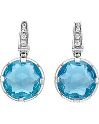 BVLGARI | Blue Parentesi Cocktail 18kt White-gold Earrings | Lyst