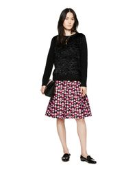 kate spade new york - Black Textured Front Sweater - Lyst