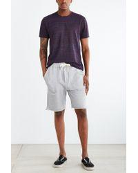 BDG Gray Cutoff Knit Short for men