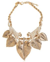 Roberto Cavalli - Metallic Monkey Necklace With Swarovski Crystals - Lyst