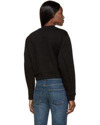 Acne Studios Black Zippered Bird Sweatshirt