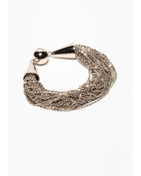 & Other Stories | Metallic Braided Multichain Bracelet | Lyst