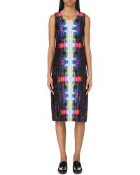 Pleats Please Issey Miyake Pink Migrant Abstract-print Pleated Dress