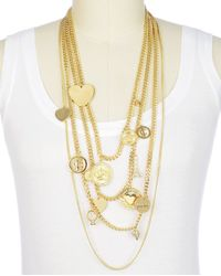 Juicy Couture | Metallic Mega Status Charm Necklace | Lyst