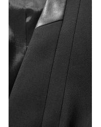 BOSS - Black 'jonida' | Stretch Virgin Wool Blazer With Vegan Leather Trim - Lyst