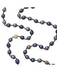 Jordan Alexander | Black Peacock Freshwater Pearl Necklace | Lyst