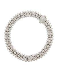 Roberto Coin - Metallic Mini Appass Woven Bracelet With Diamonds - Lyst
