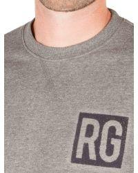 Racing Green Gray Owen Flocked Logo Sweat for men